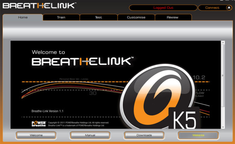 POWERbreathe K5 BreathLink-Software